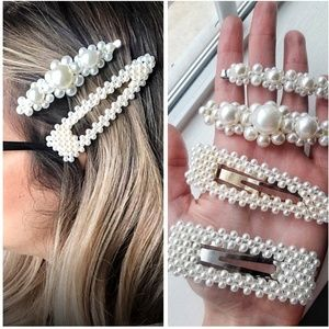 4 Oversized Large Pearl Clips, Hair Pins Set